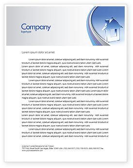 Crystal Home Letterhead Template, 05505, Construction — PoweredTemplate.com