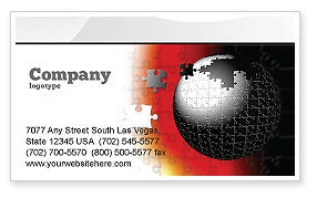 Business Concepts: World Fragments Business Card Template #05507