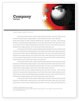 Business Concepts: World Fragments Letterhead Template #05507