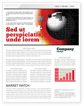 World Fragments Newsletter Template, 05507, Business Concepts — PoweredTemplate.com