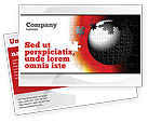 Business Concepts: World Fragments Postcard Template #05507