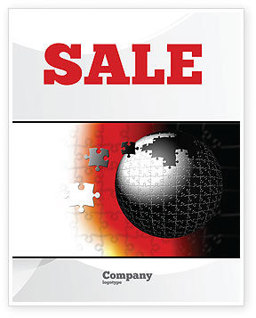 World Fragments Sale Poster Template, 05507, Business Concepts — PoweredTemplate.com