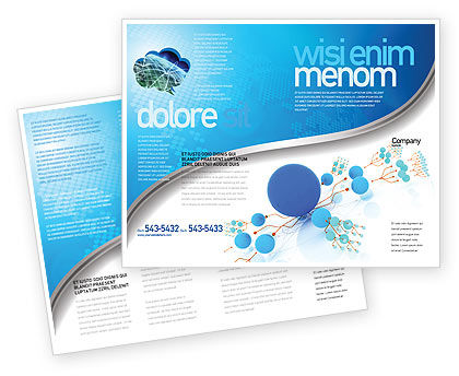 Technology, Science & Computers: Ontwikkeld Netwerk Brochure Template #05526