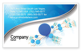 Technology, Science & Computers: Developed Network Business Card Template #05526