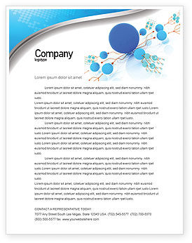 Technology, Science & Computers: Developed Network Letterhead Template #05526