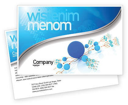 Technology, Science & Computers: Developed Network Postcard Template #05526
