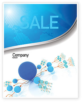 Technology, Science & Computers: Developed Network Sale Poster Template #05526
