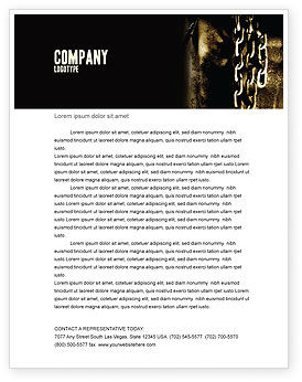 Utilities/Industrial: Chains Letterhead Template #05527