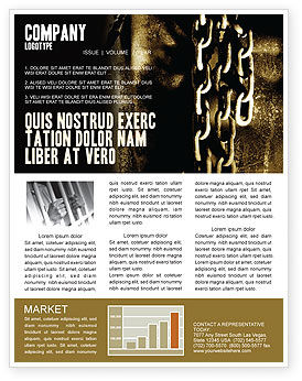 Chains Newsletter Template, 05527, Utilities/Industrial — PoweredTemplate.com