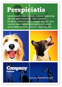 Agriculture and Animals: Hondenras Advertentie Template #05529