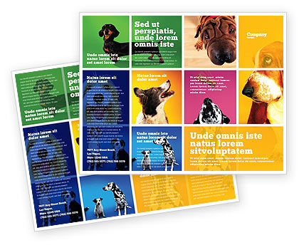 Dog Breed Brochure Template, 05529, Agriculture and Animals — PoweredTemplate.com