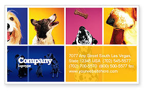 Agriculture and Animals: Dog Breed Business Card Template #05529