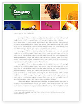 Dog Breed Letterhead Template, 05529, Agriculture and Animals — PoweredTemplate.com