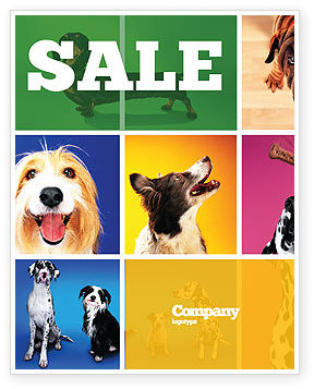 Agriculture and Animals: Dog Breed Sale Poster Template #05529