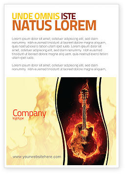 Jazz Guitar Ad Template, 05536, Art & Entertainment — PoweredTemplate.com