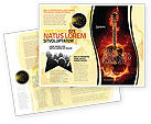 Art & Entertainment: Jazz Guitar Brochure Template #05536