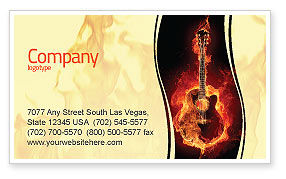 Art & Entertainment: Jazz Guitar Business Card Template #05536