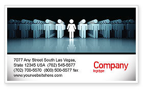 Gender Inequality Business Card Template, 05537, Consulting — PoweredTemplate.com