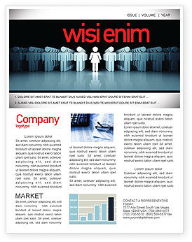 Gender Inequality Newsletter Template, 05537, Consulting — PoweredTemplate.com