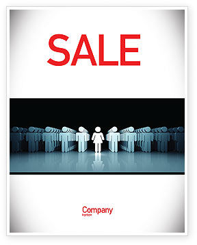 Gender Inequality Sale Poster Template, 05537, Consulting — PoweredTemplate.com
