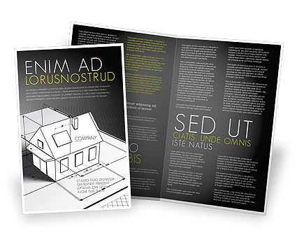 House Draft Brochure Template, 05541, Careers/Industry — PoweredTemplate.com