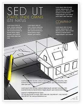 House Draft Flyer Template, 05541, Careers/Industry — PoweredTemplate.com