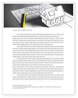 House Draft Letterhead Template, 05541, Careers/Industry — PoweredTemplate.com