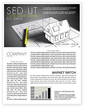 House Draft Newsletter Template, 05541, Careers/Industry — PoweredTemplate.com