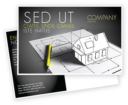 House Draft Postcard Template, 05541, Careers/Industry — PoweredTemplate.com