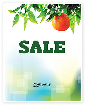 Agriculture and Animals: Orange Tree Sale Poster Template #05547