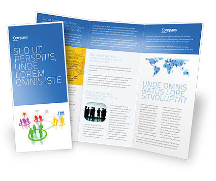 Careers/Industry: Sociaal Netwerk Communicatie Brochure Template #05548