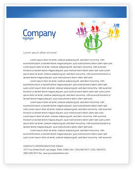 Social Network Communication Letterhead Template, 05548, Careers/Industry — PoweredTemplate.com