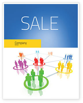 Social Network Communication Sale Poster Template, 05548, Careers/Industry — PoweredTemplate.com