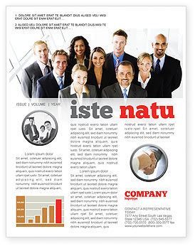 Business Personnel Newsletter Template, 05550, Business — PoweredTemplate.com