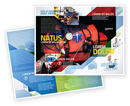 Ambulance Kit Brochure Template, 05551, Medical — PoweredTemplate.com