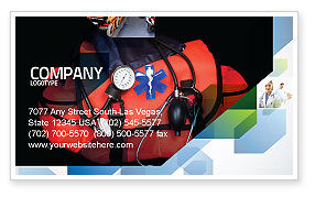 Ambulance Kit Business Card Template, 05551, Medical — PoweredTemplate.com