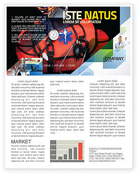 Ambulance Kit Newsletter Template, 05551, Medical — PoweredTemplate.com
