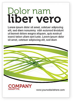 Abstract/Textures: Green Fibers Ad Template #05553