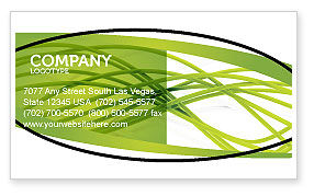 Green Fibers Business Card Template, 05553, Abstract/Textures — PoweredTemplate.com