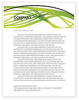 Abstract/Textures: Green Fibers Letterhead Template #05553