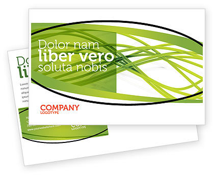Green Fibers Postcard Template, 05553, Abstract/Textures — PoweredTemplate.com