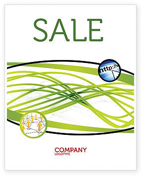 Abstract/Textures: Green Fibers Sale Poster Template #05553