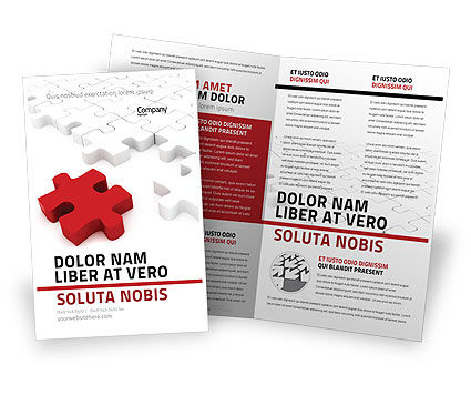 Fitting In Brochure Template, 05554, Consulting — PoweredTemplate.com