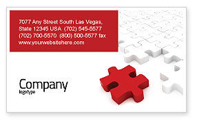 Fitting In Business Card Template, 05554, Consulting — PoweredTemplate.com