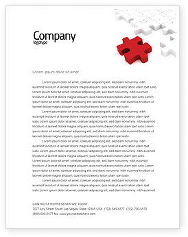 Fitting In Letterhead Template, 05554, Consulting — PoweredTemplate.com