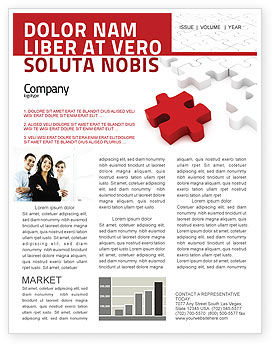 Fitting In Newsletter Template, 05554, Consulting — PoweredTemplate.com