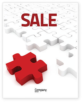 Fitting In Sale Poster Template, 05554, Consulting — PoweredTemplate.com