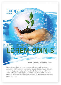Nature & Environment: Save Wereld Advertentie Template #05558