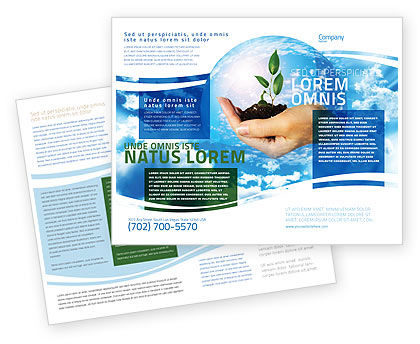Save World Brochure Template, 05558, Nature & Environment — PoweredTemplate.com