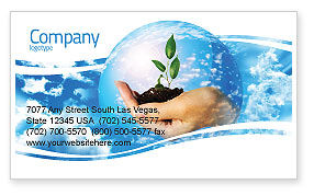 Nature & Environment: Save World Business Card Template #05558
